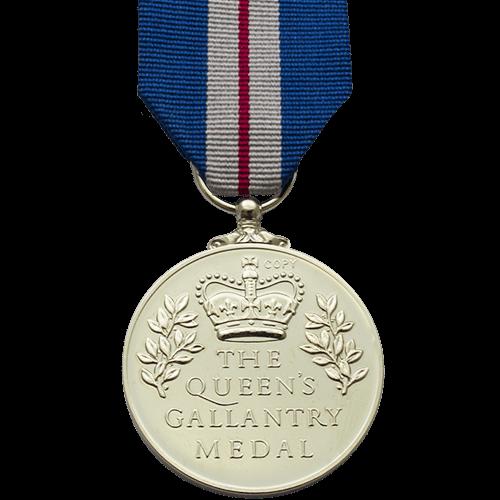 Queens Gallantry Medal Reverse