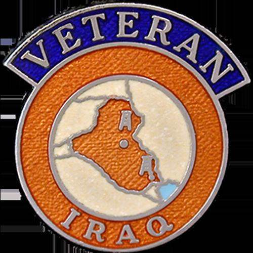 Iraq Veterans Badge Enamelled