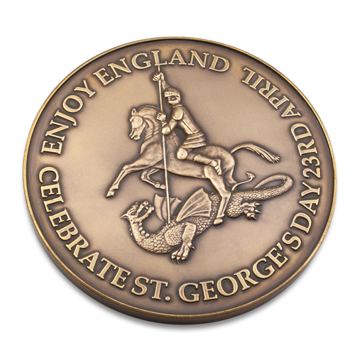 Celebrate St Georges Day Anniversary Medal Front