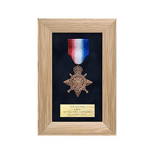military medal display frame 1 space