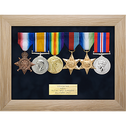 military medal display frame 6 space